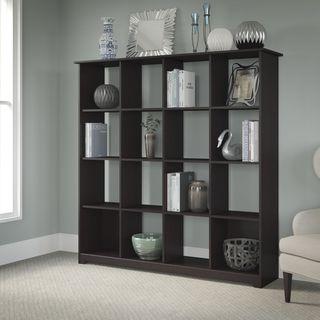 """Copper Grove Daintree Espresso Oak 16-cube Bookcase - 60.28""""L x 14.69""""W x 61.14""""H"""