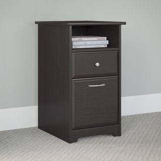 Cabot Collection Espresso Oak 2-drawer Pedestal