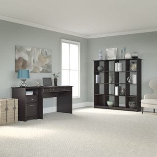 Aero Writing Desk With 16 Cube Bookcase And Tall Storage