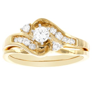 H Star 14k Yellow Gold 2/5ct TDW Diamond Bridal Set (I-J, I2-I3)