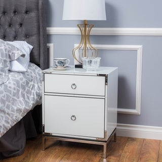 Christopher Knight Home Bansollo Two-Drawer Mirrored End Table