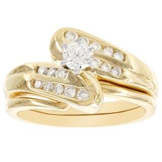 H Star 14k Yellow Gold 1/2ct TDW Diamond Bridal Set (I-J, I2-I3)