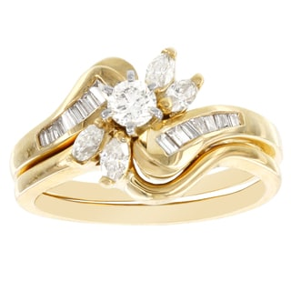 H Star 14k Yellow Gold 3/4ct TDW Diamond Bridal Set (I-J, I2-I3)