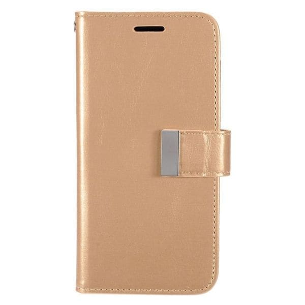 Insten Gold Leather Case Cover with Wallet Flap Pouch/ Photo Display For Samsung Galaxy S7 Edge