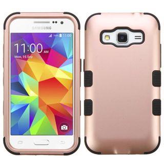 Insten Tuff Hard PC/ Silicone Dual Layer Hybrid Rubberized Matte Case Cover for Samsung Galaxy Core Prime