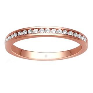 De Couer 14k Rose Gold 1/5ct TDW Diamond Wedding Band (H-I, I2)