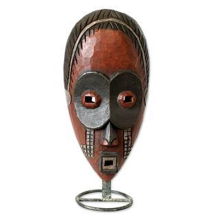 Handcrafted Sese Wood 'Dan Ghost' Mask (Ghana)