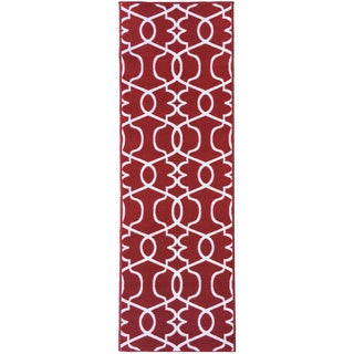 """Berrnour Home Rose Collection Moroccan Trellis Design Runner Rug With Non-Skid (Non-Slip) Rubber Backing (20"""" X 59"""")"""