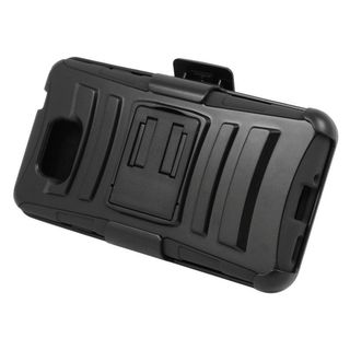 Insten Hard PC/ Silicone Dual Layer Hybrid Case Cover with Stand/ Holster For Samsung Galaxy Alpha