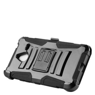 Insten Hard PC/ Silicone Dual Layer Hybrid Case Cover with Stand/ Holster For Microsoft Lumia 640 XL