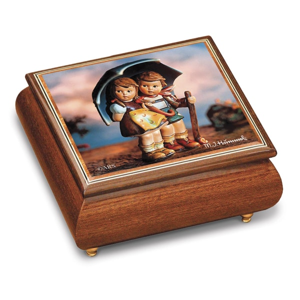 Versil Hummel 'Stormy Weather' Brown Wood Music Box
