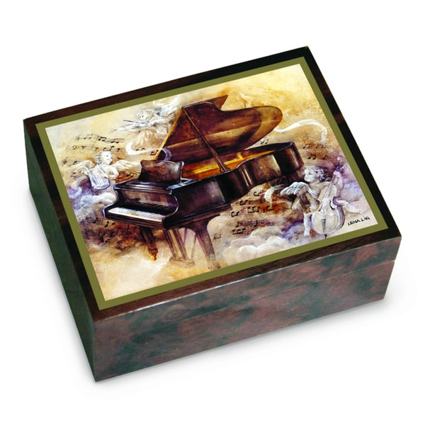 Versil Lena Liu 'Piano Sonata' Brown Wood Music Box