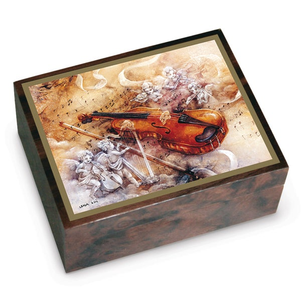 Versil Lena Liu Violin Concerto Brown Wood Music Box