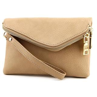 Urban Expressions Women's Lucy Beige Faux Leather Clutch Handbag