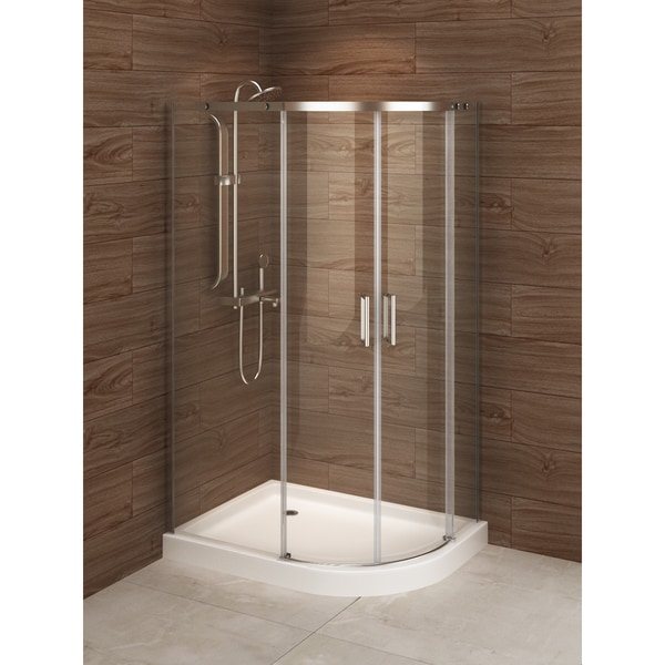 Madrid 48 Inch X 36 Inch Asymmetric Right Opening Corner Shower Stall 18857