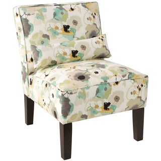 Skyline Furniture Multicolored Upholstered Floral-print Armless Chair