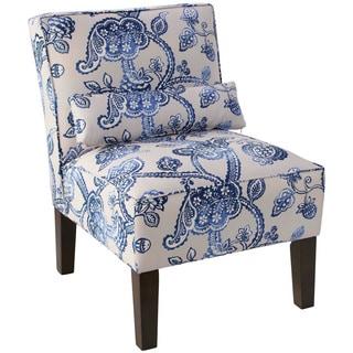Skyline Furniture Espresso/Lovina Indigo Polyester/Polyurethane/Pine Armless Chair
