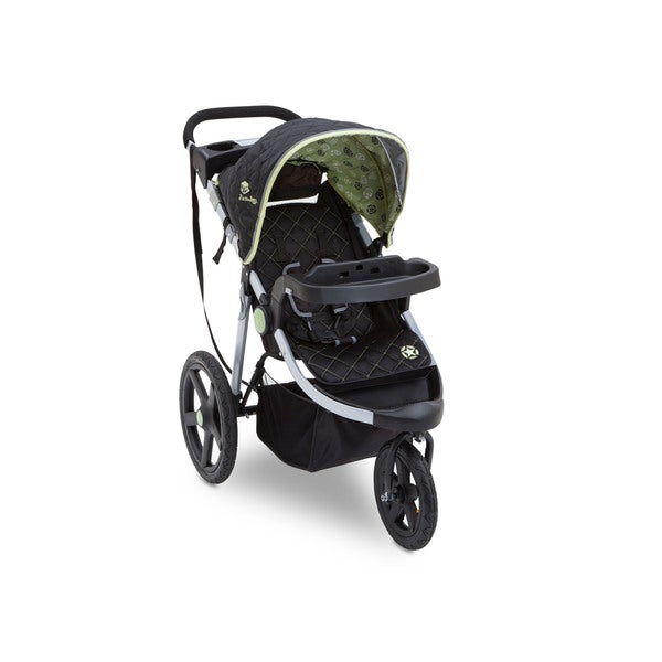 Delta J is for Jeep Brand Adventure Destination Black/Green/Silver Plastic All-terrain Jogging Stroller