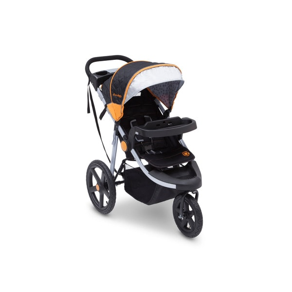 J is for Jeep Brand Adventure Galaxy Black/Orange/Silver Plastic All-terrain Jogging Stroller