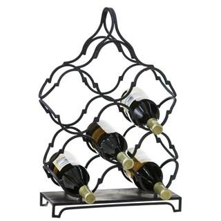 Black Metal Wine Rack