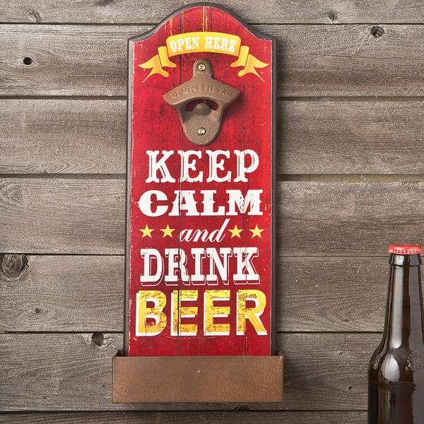 Keep Calm Red Beer Bottle Opener