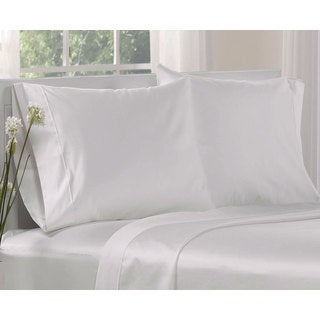 White 100-percent Cotton 1000 Thread Count Solid Pillowcases (Set of 2)