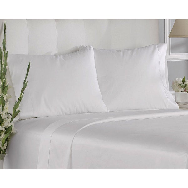 White 100-percent Cotton 400-thread-count Solid Pillowcases (Set of 2)