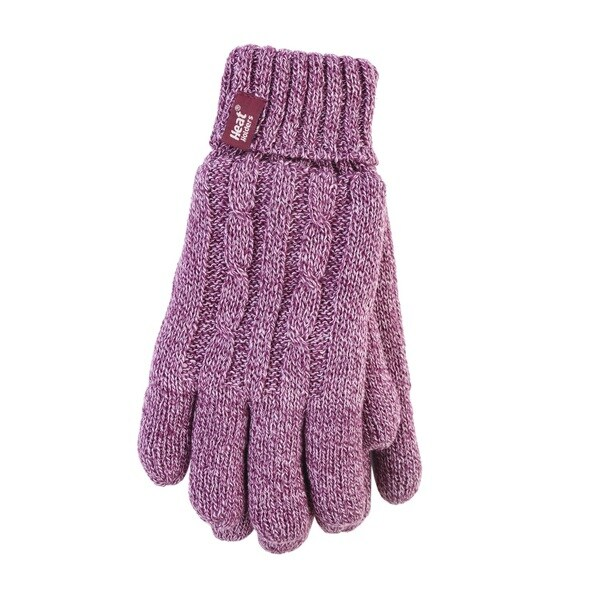 Grabber Ladies' Heat Holders Rose Polyester Knit Gloves 19106243