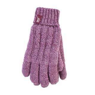 Grabber Ladies' Heat Holders Rose Polyester Knit Gloves