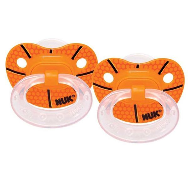 NUK Basketball Sports Size 3 Pack of 2 Orthodontic Pacifiers