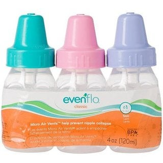 Evenflo Classic Clear Girl 4-ounce Bottles (Pack of 3)