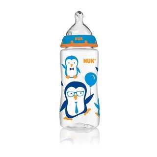 NUK Blue Penguin 10-ounce Orthodontic Bottle