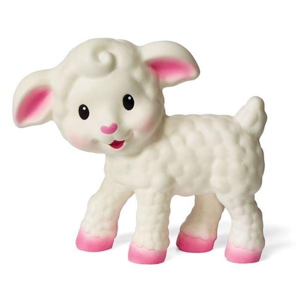 Infantino White Rubber BPA-free Squeezable Teething Lamb 19106365