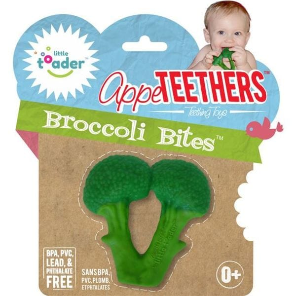 Little Toader Broccoli Bites Green Silicone Teether