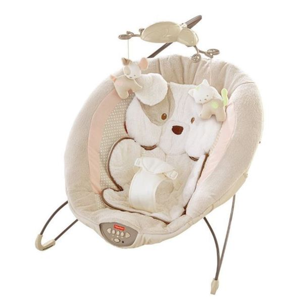 Fisher Price 'My Little Snugapuppy' Beige Deluxe Bouncer