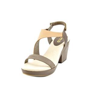 Jambu Women's Jasmine Brown Leather Platform Sandals