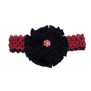 Stylish Blue Jean Rosette Headband