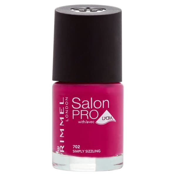 Rimmel London Salon Pro Nail Polish with Lycra 702 Simply Sizzling