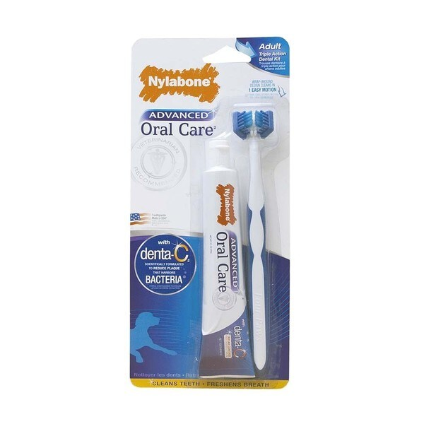 Nylabone Advanced Oral Care Triple-action Dog Dental Cleaning Kit