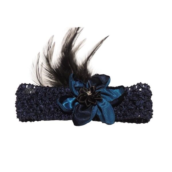 Midnight Blue Victorian Style Headband
