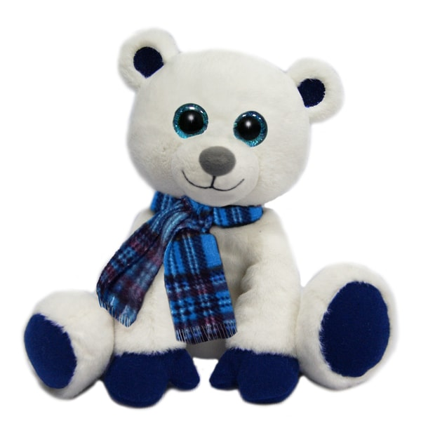 First and Main 7-inch Little Dickens Plush Polar Bear
