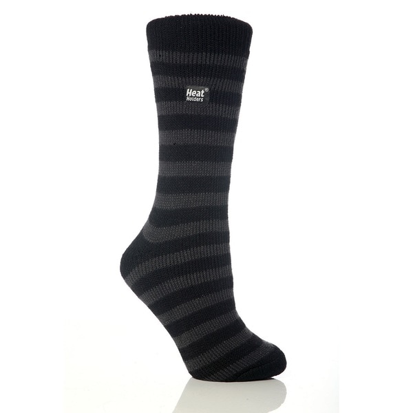 Grabber Heat Holders Ladies Striped Crew Sock