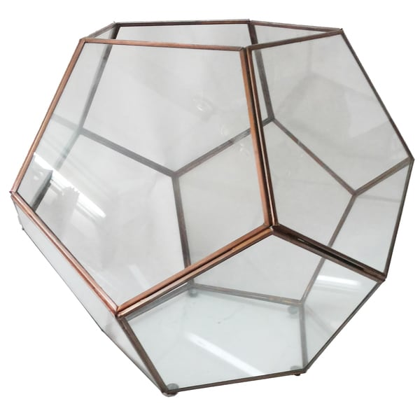 Odile Glass Dodecahedron Accent Green House