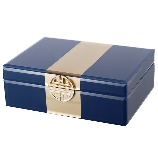 Blue/Gold Metal Jewelry Box