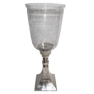 Aluminum and Glass 9.5-inch x 24-inch Votive Holder