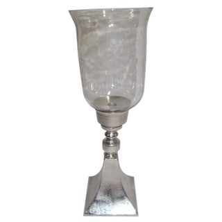 Glass with Aluminum Base Votive Holder