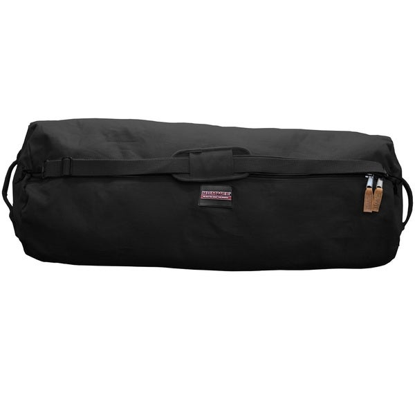 Humvee Black Canvas Large Duffle Bag