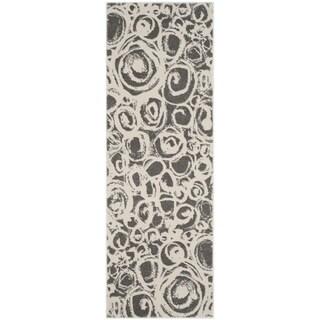 Safavieh Porcello Dark Grey/ Ivory Rug (2'4 x 6'7)