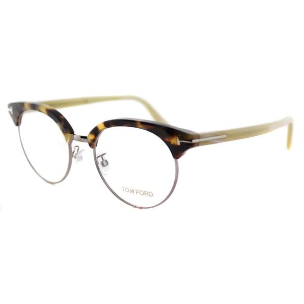 Tom Ford FT 5343 052 Dark Havana Plastic 49-millimeter Round Eyeglasses 19113501