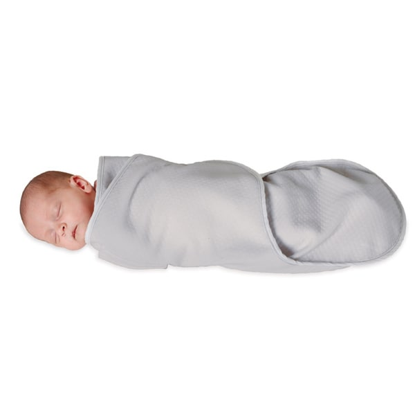 Candide Luxury Grey Cotton/Polyester Swaddling Blanket